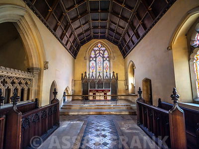 Interior of church in Tetbury, Cotswolds