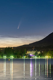 July 8, 2020 (detail)- Comet and noctilucent clouds - Annecy