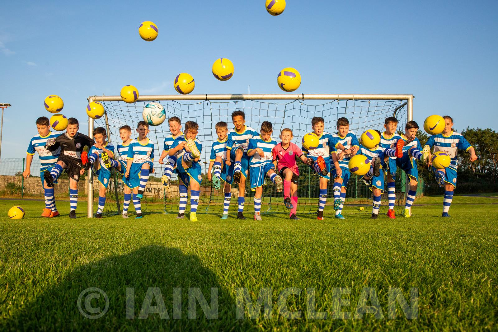 Taylor Wimpey - Kilwinning Sports Club..13.8.20.KSC Madrid with their new Taylor Wimpey sponsored strips...Free PR use for Ta...