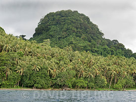 The volcanic and forest cloaked island of Savo, Solomon Islands South Pacific