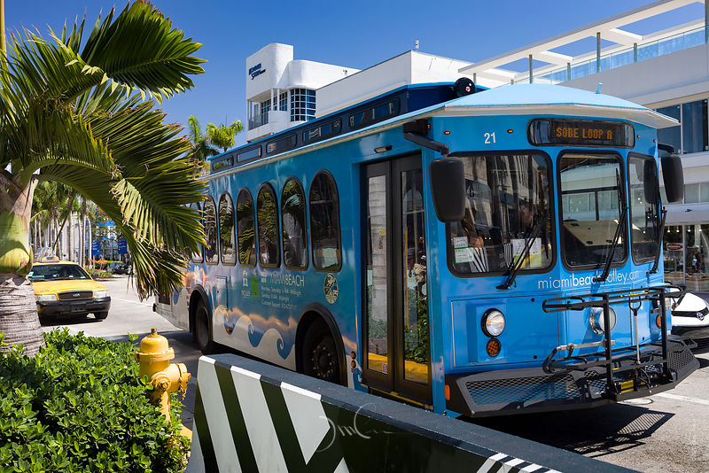 Trolley à Miami Beach