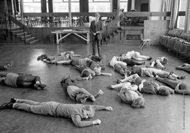 #83674,  Drama class, Whitworth Comprehensive School, Whitworth, Lancashire.  1970.  Shot for the book, 'Family and School, P...