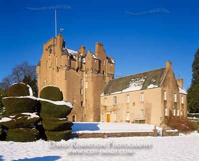 Image -  Crathes Castle, Aberdeenshire, Scotland, Winter