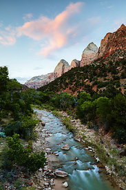 Sunset over Zion