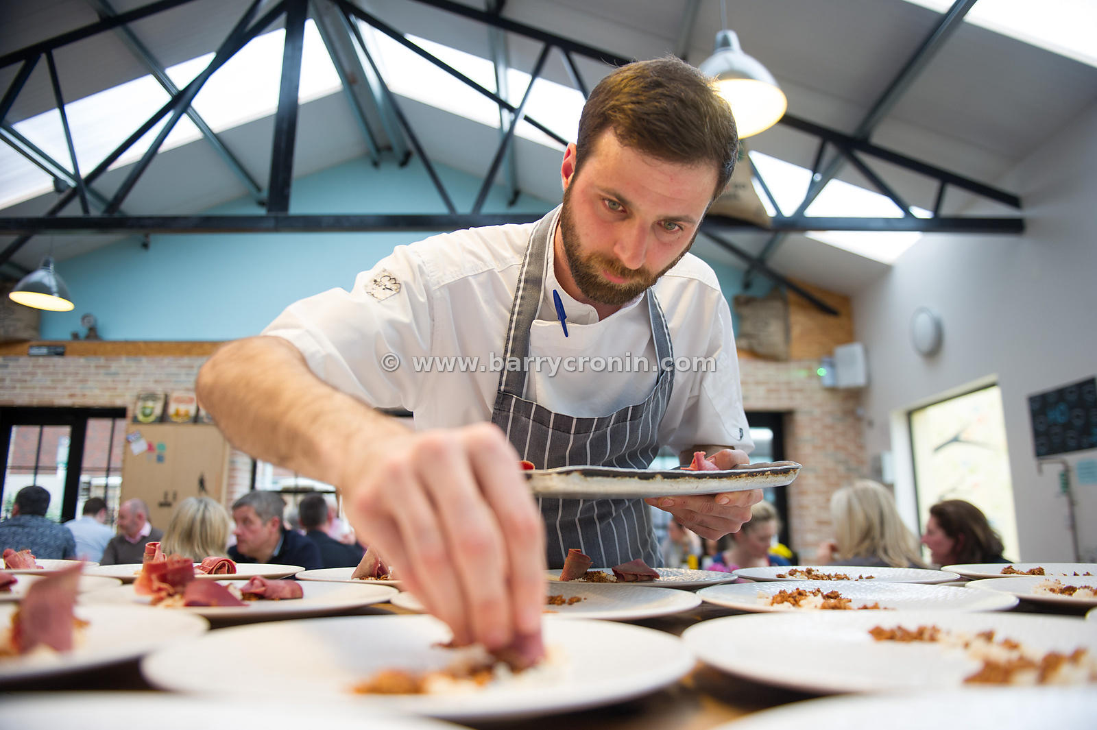 10th May, 2015.Chef Ian McHale (from Chapter One restaurant) at a pop up store event in Two Fifty Square, Williams Park, Rath...