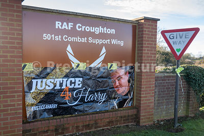 Justice for Harry Dunn - Protests outside American Forces base RAF CROUGHTON
