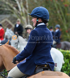 Emilie Chandler at the meet. The Quorn Hunt at Barrowcliffe 6/12