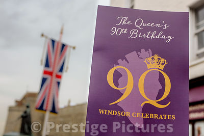 Windsor Celebrates The Queen's 90th Birthday sign