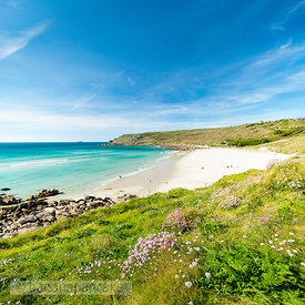 Gwynver (Gwenver) Beach, near Land's End, Cornwall - BP6740
