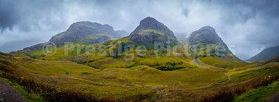 The three Sisters munros near Glencoe in Scotland