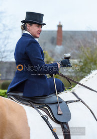 Emma Brown at the meet. The Quorn Hunt at Barrowcliffe 6/12