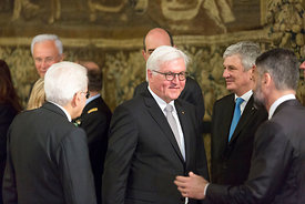 President of Italy Sergio Mattarella meets with German president Frank-Walter Steinmeier, Rome, Italy, 3, May, 2017