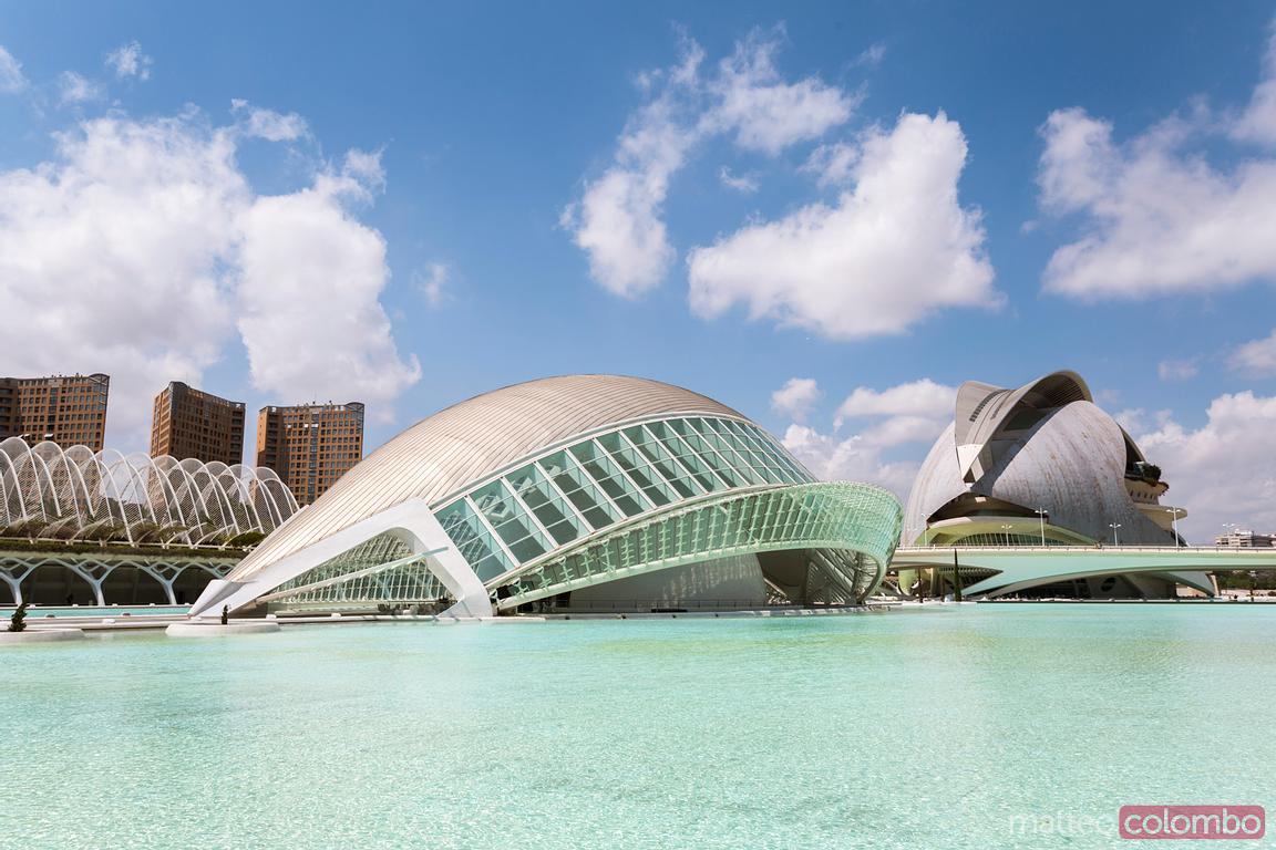 The Hemispheric at daytime, City of Arts and Sciences, Valencia, Spain