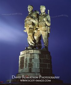 Image - Commando Memorial, illuminated, Scotland