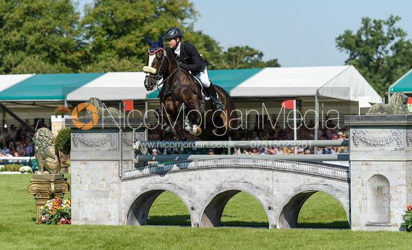 Ben Hobday and HARELAW WIZARD, showjumping phase, Land Rover Burghley Horse Trials 2018