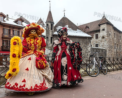 Disguised Persons in Annecy