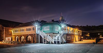 The Brooklands Clubhouse, part of The Spirit Of Brooklands series, available as limited edition fine art Giclée prints.
