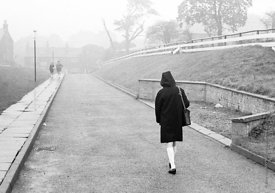 #83623,  Leaving school at the end of the day, Whitworth Comprehensive School, Whitworth, Lancashire.  1970.  Shot for the bo...