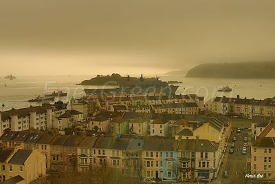 Port de Plymouth en Angleterre