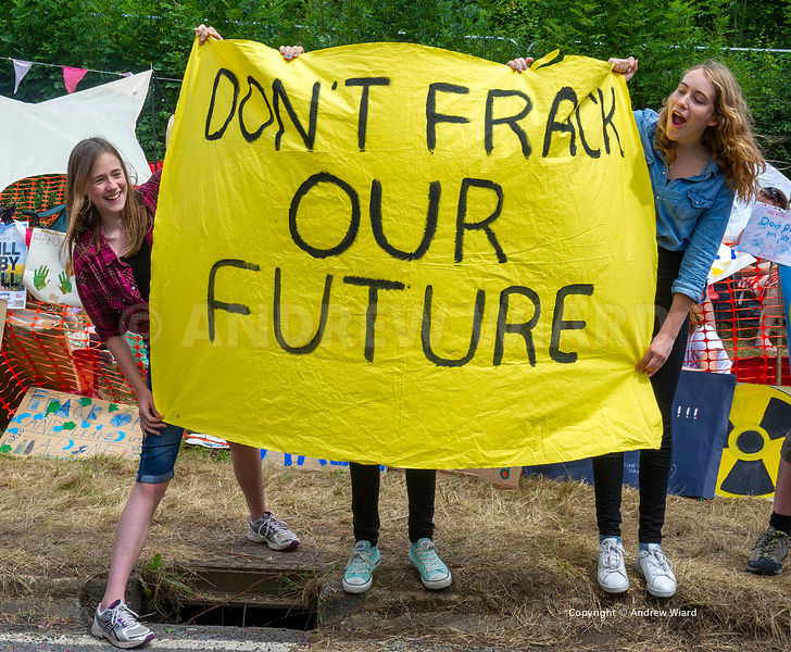 England, UK . 3.8.2013. Balcombe . Frack Free Sussex fracking protest against Cuadrilla test drilling for oil which could lea...