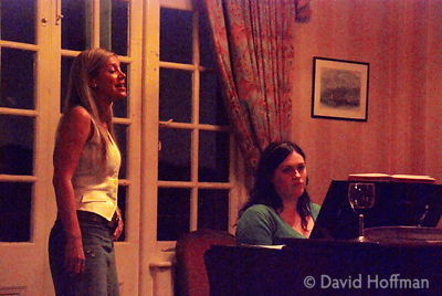 Annie's friends at singing class performance. White Hart, Mortlake, July 2007.