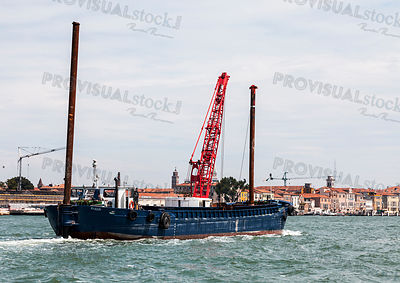 Industrial Ship in Port of Venice