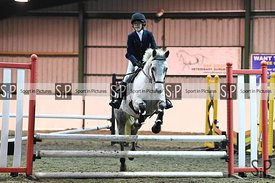 Stapleford Abbotts. United Kingdom. 04 November 2020. Unaffiliated Wednesday evening showjumping. MANDATORY Credit Garry Bowd...