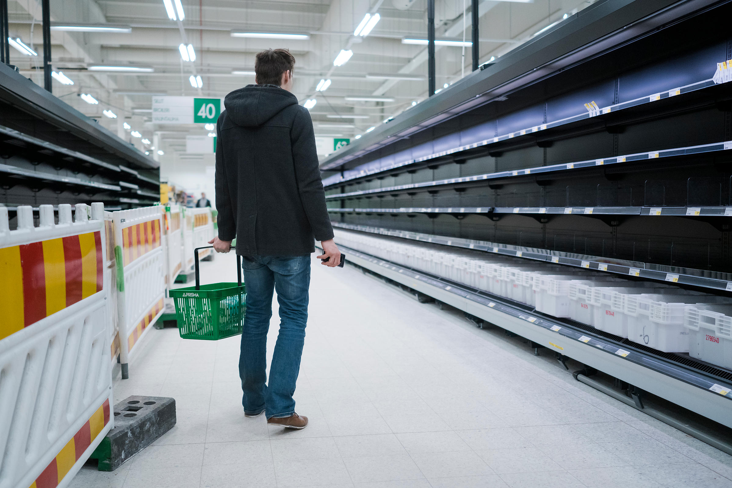 Corona diary: Friday 13th March 2020. The hypermarket was quieter than yesterday. Tourists were photographing the empty shelv...