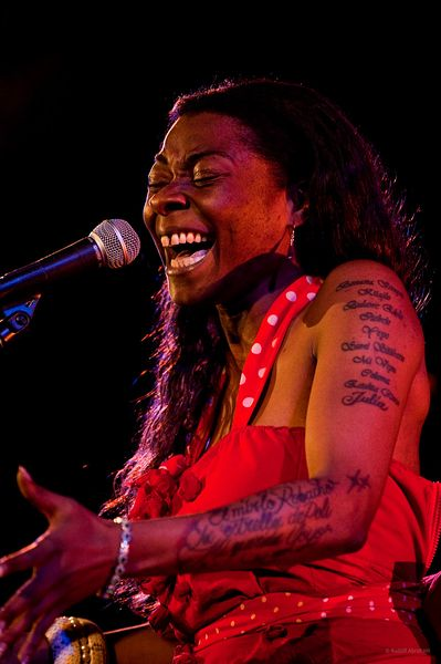 Flamenco singer Buika, live in concertdon, UK (18 April 2013)