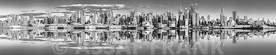 Panoramic view of Lower Manhattan skyline, New York