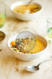 Roasted Butternut Squash Soup with Feta