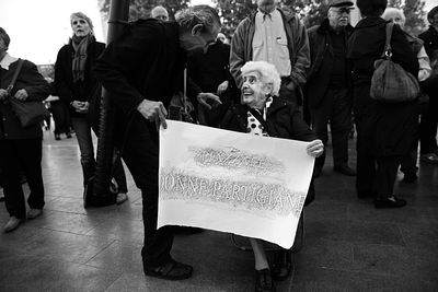 "Naming ceremony of the square dedicated to Woman Partisans of the Italian resistance movement. Partisan Antonietta ""Fiamma"" R..."