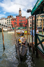 Gondola Near the Rialto Bridge