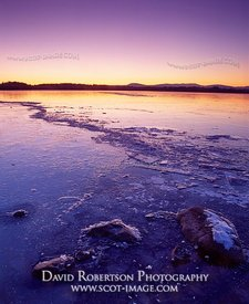 Image - Lake of Menteith, Scotland, Ice, winter sunset