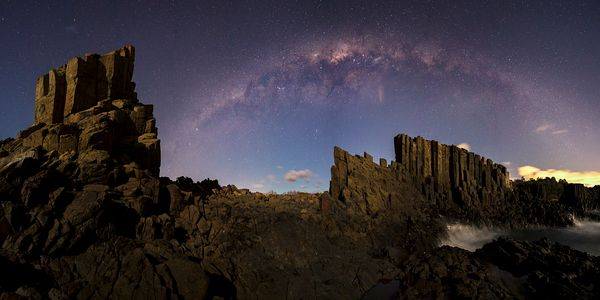 Milkyway Panorama over Quarry