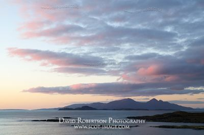 Image - Isles of Muck and Rum viewed from Sanna Bay, Scotland