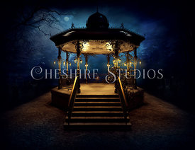 Park Bandstand at Night