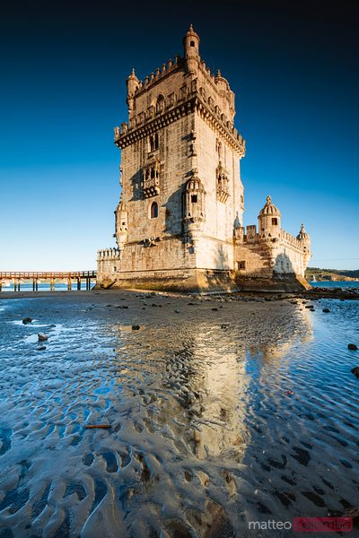 Belem tower at sunset, Lisbon, Portugal