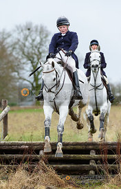 Meghan Healy jumping a fence at Cream Gorse. The Beaufort Hunt visit the Quorn at Cream Gorse 13/1