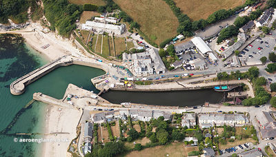 Charlestown Cornwall  aerial photograph