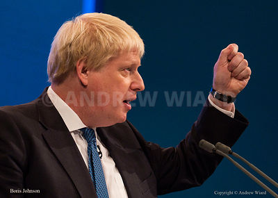 England, UK . 3.10.2017. Manchester . Conservative Party Conference, Tuesday. Boris Johnson.