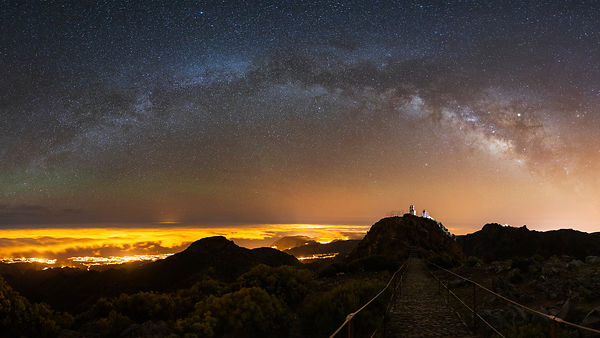 Milky Way above the cloud