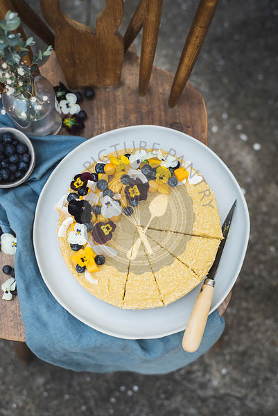 Raw Vegan Mango Coconut Cheesecake