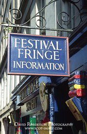 Image - Edinburgh Festival Fringe Office sign, Scotland