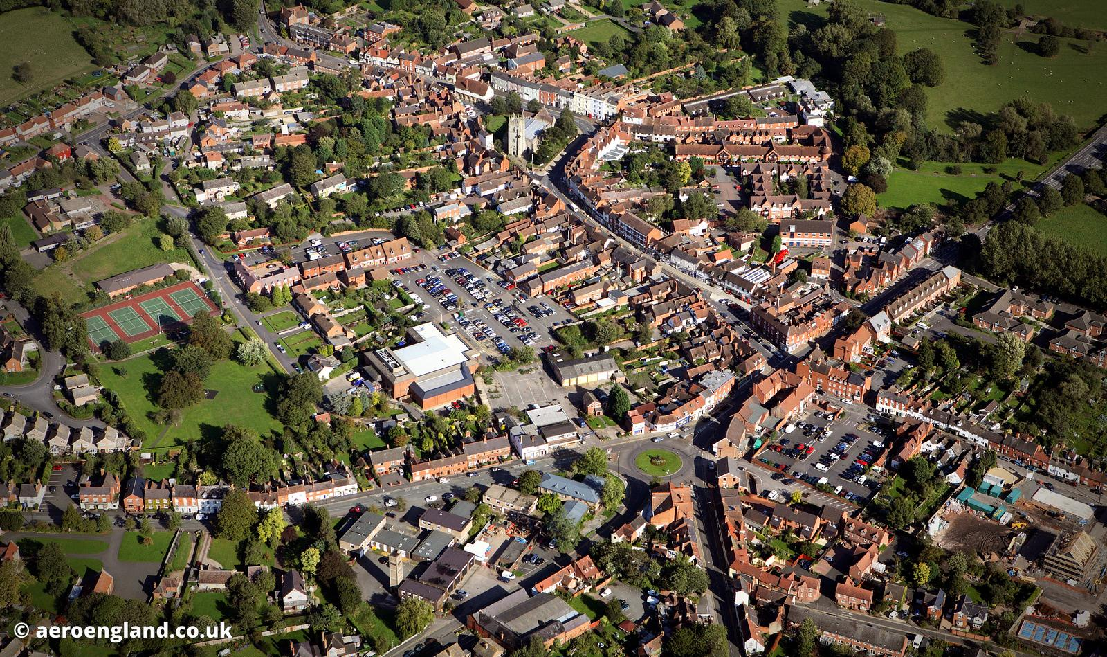 Alcester Warwickshire aerial photograph