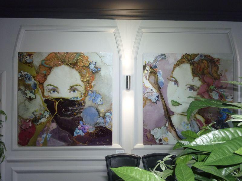 David Roland Artiste Peintre Peinture Sous Verre