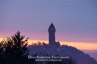 Image - The National Wallace Monument, Stirling at sunrise