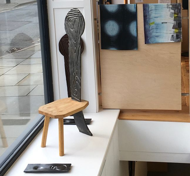Dominic Powell Pen y Fan Chair with kathryn Green scarves