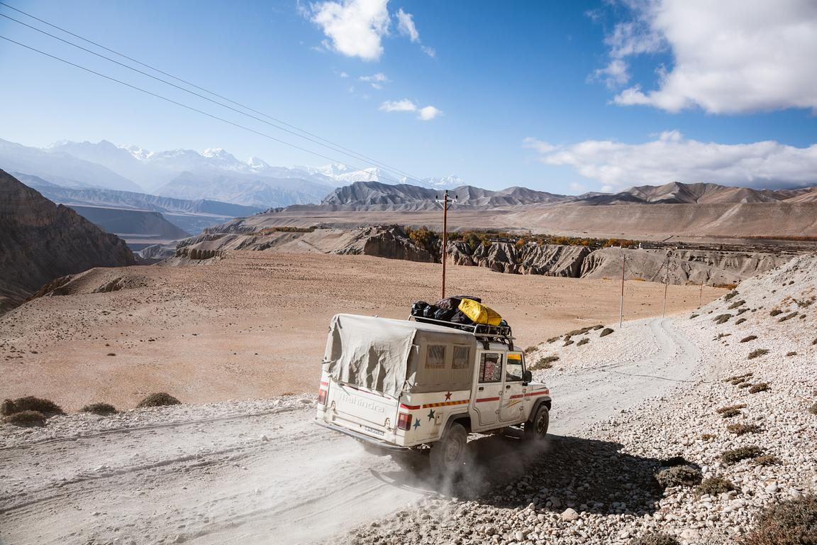 Local tourist jeep, Upper Mustang region, Nepal