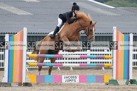 Stapleford Abbotts. United Kingdom. 16 August 2020. Unaffiliated showjumping. MANDATORY Credit Ellen Szalai/Sport in Pictures...